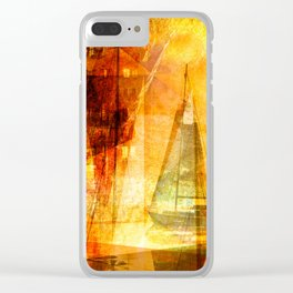 Coming home to harbour Clear iPhone Case