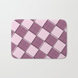 Argyle Out of Line Girly Bath Mat