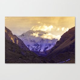 SUNRISE AT APU SALKANTAY Canvas Print