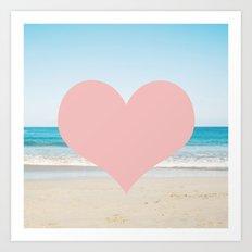 Heart Beach  Art Print