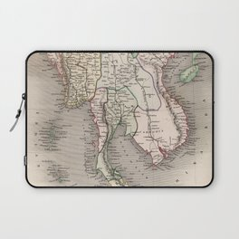 Vintage Map of The Burmese Empire (1832) Laptop Sleeve