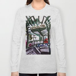 Paris Metro Sketch Chatelet Long Sleeve T-shirt
