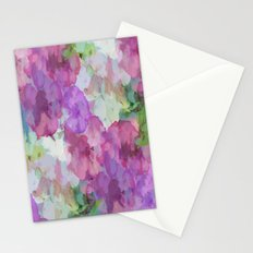 Sweet Peas Floral Abstract Stationery Cards