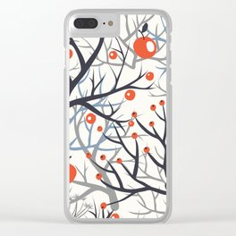 apples berries branch  Clear iPhone Case