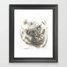 Gorilla Sketch Framed Art Print
