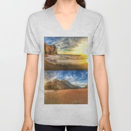 Tennessee Valley Stacked Panorama Unisex V-Neck
