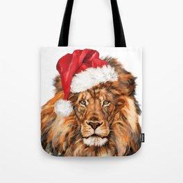 Christmas Lion Tote Bag