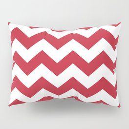 Red and White Bold Chevron Stripes Pillow Sham
