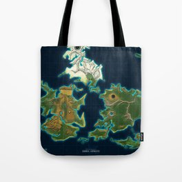 Final Fantasy VII - Shinra Airways World Map Tote Bag