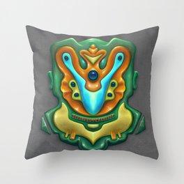 Summer Totem Green Throw Pillow