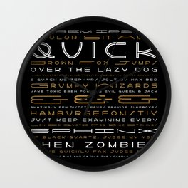 Lightyear Type Specimen Poster Wall Clock