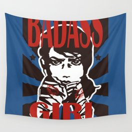 Badass Girl Wall Tapestry