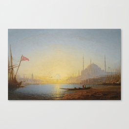 Amédée Rosier 1831 - 1898 FRENCH VIEW OF CONSTANTINOPLE Canvas Print