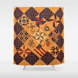 Quilting Of The Flag Shower Curtain