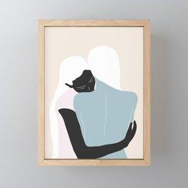 Hug Framed Mini Art Print