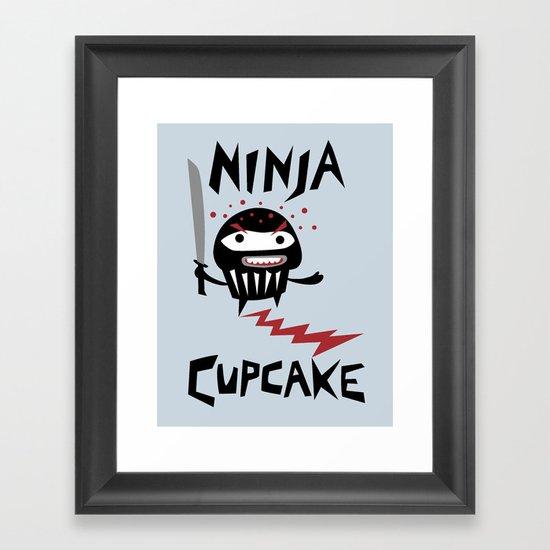 Ninja Cupcake Framed Art Print