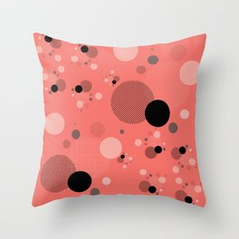 Coral Dots Throw Pillow