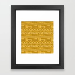 Mud Cloth on Mustard Framed Art Print