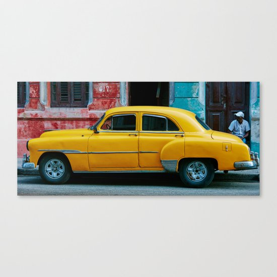Yellow Car 3 Canvas Print