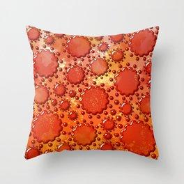 Glass flowers on orange v2 Throw Pillow
