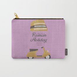 Roman Holiday, Audrey Hepburn,movie poster, Gregory Peck, William Wyler, romantic hollywood film Carry-All Pouch