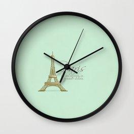 Paris is Always a Good Idea {Redesign} Wall Clock