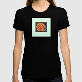 Pizza Record Player T-shirt