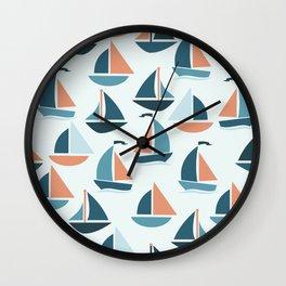 Sailboats Wall Clock