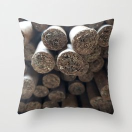 cigar lover Throw Pillow