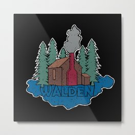 Walden - Henry David Thoreau (Coloured textured version) #society6 #decor #buyart Metal Print