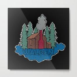 Walden - Henry David Thoreau (Coloured textured version) #society6 #decor #buyart Metal Print