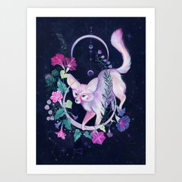 Cosmic Fox Art Print