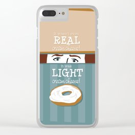 Real Cream Cheese Clear iPhone Case