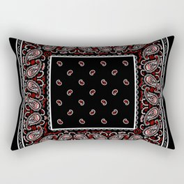 Wicked Black Bandana Rectangular Pillow