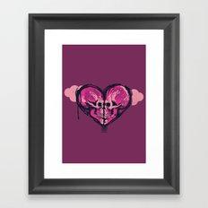 Love Skulls Redux Framed Art Print