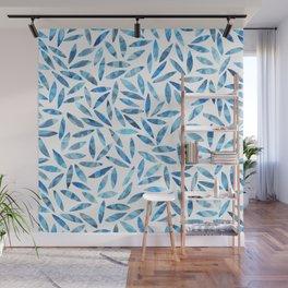 Indigo Summer Botanical Pattern Wall Mural