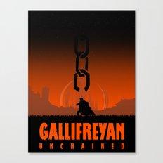 Gallifreyan unchained Canvas Print