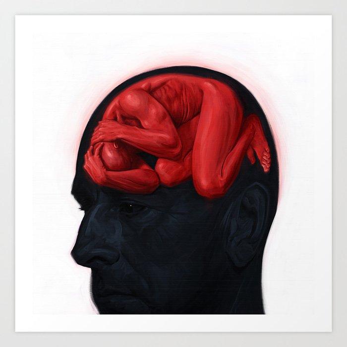 Brain Sick II Art Print