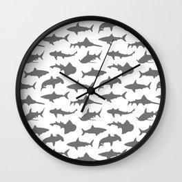 Grey Sharks Wall Clock