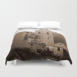 High Noon Riomaggiori Sepia Duvet Cover
