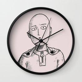 saitama sepia Wall Clock