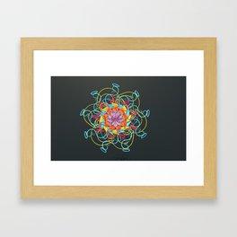 Loop Kisses Framed Art Print