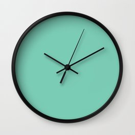 Solid Pale Blue Green Color Wall Clock