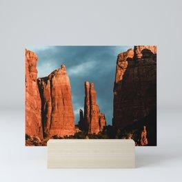 Sedona Vortex - Chimney Rock Desert Photography Mini Art Print