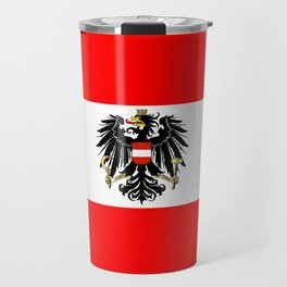 Austrian Flag and Coat of Arms Travel Mug