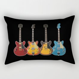 Four Electric Guitars Rectangular Pillow