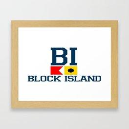 Block Island - Rhode Island. Framed Art Print