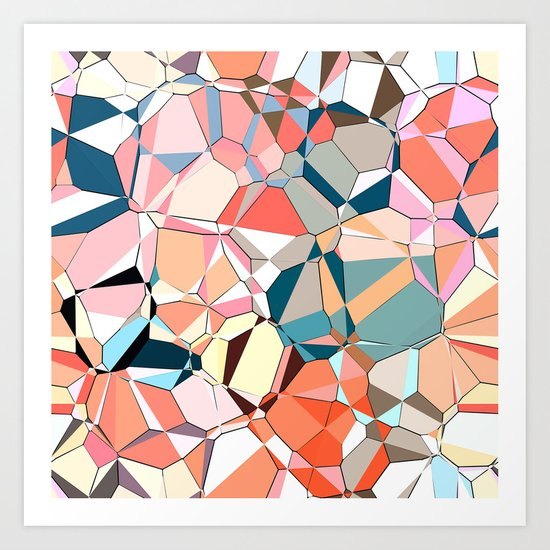 Jumble of Shapes And Colors Art Print