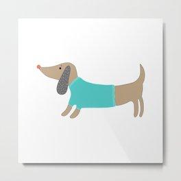 Cute hand drawn doggie Metal Print