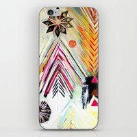 """flora bowley iPhone & iPod Skins featuring """"True North"""" Original Painting by Flora Bowley by Flora Bowley"""